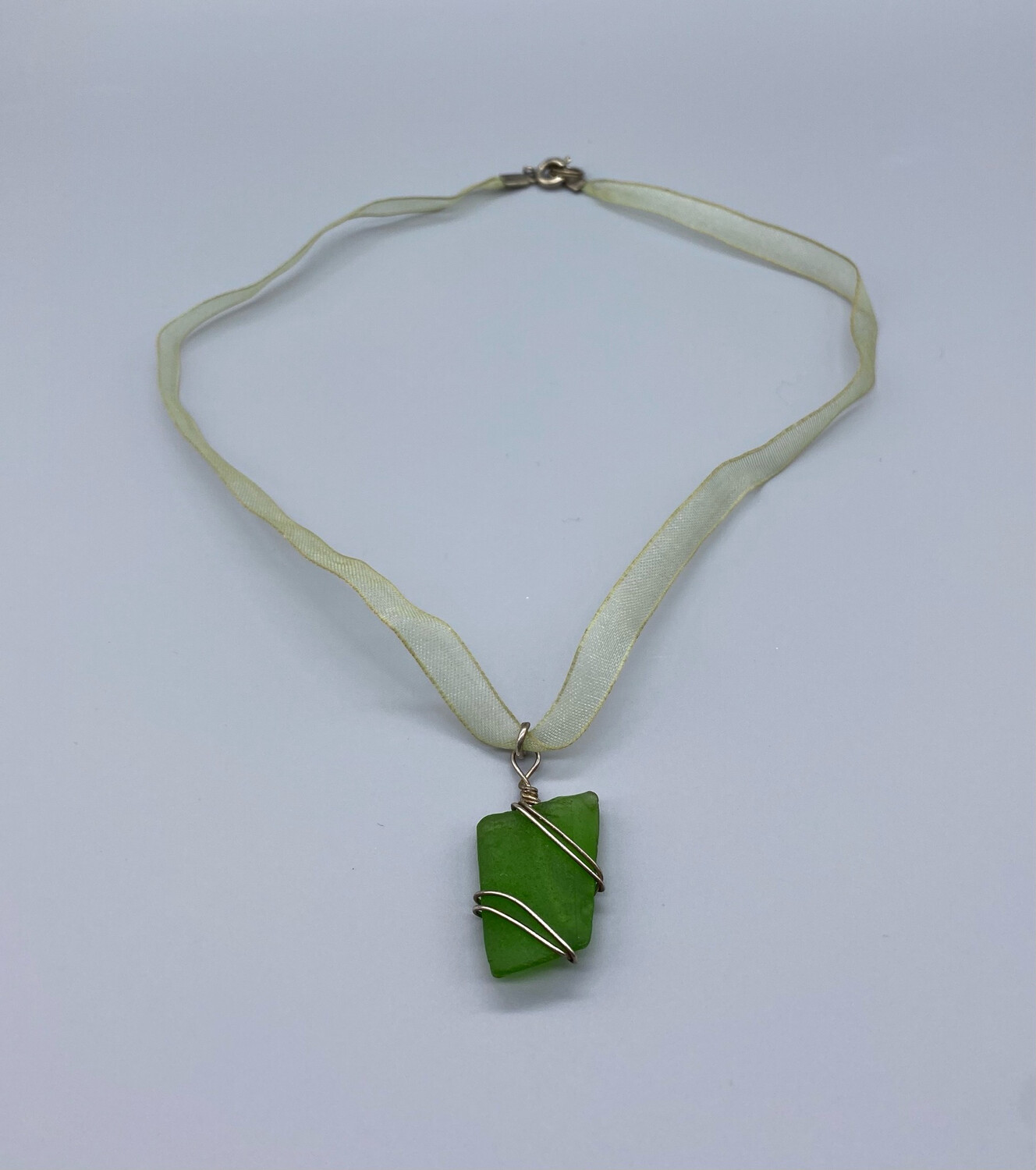 Vintage Necklace With Green Gemstone