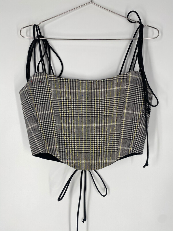 Reworked Plaid Corset