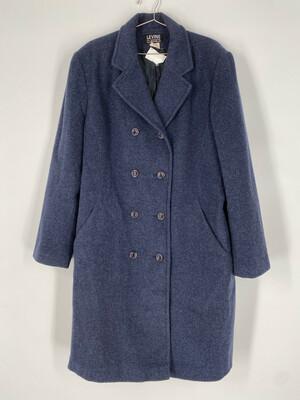 Levine Classics Blue Wool Mid Length Pea Coat Size L