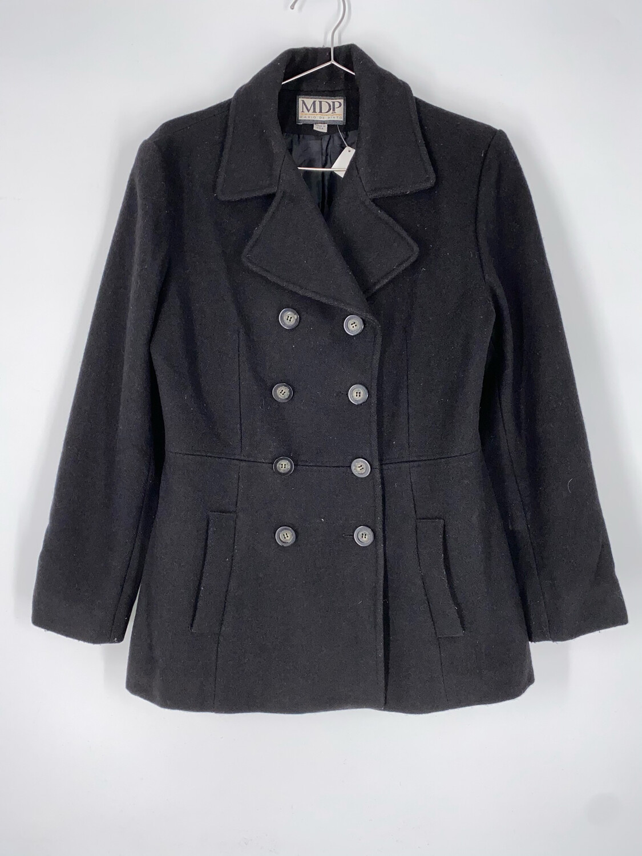 Mario De Pinto Black Wool Coat Size M
