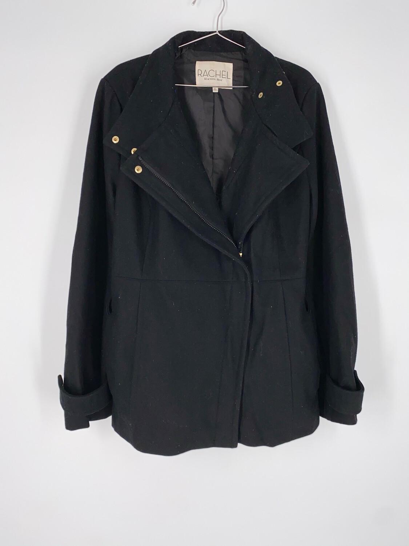Rachel Roy Black Wool Coat Size L