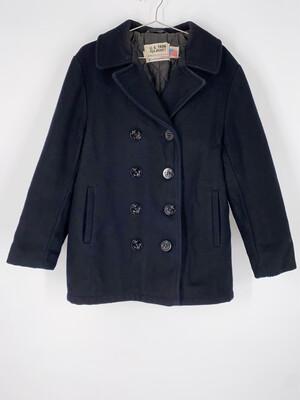 US 74ON Black Pea Jacket Size L
