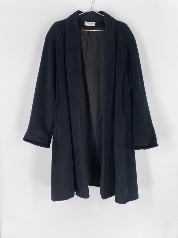 Forecaster Black Open A-Line Coat Size L