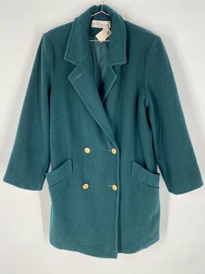 John Mayer Of Norwich Deep Green Pea Coat Size M