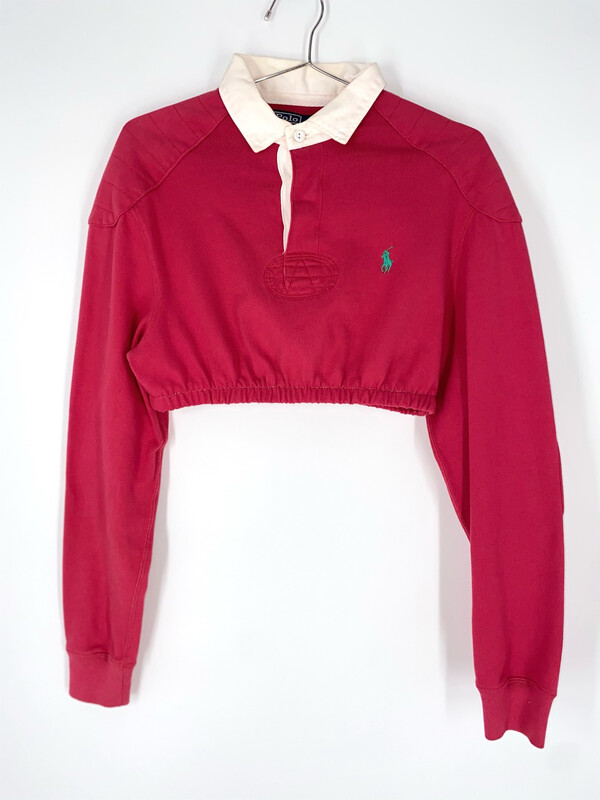 Reworked Ralph Lauren Cropped Polo