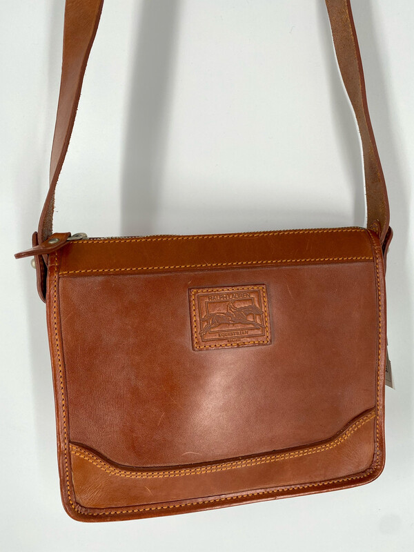 Ralph Lauren Equestrian Leather Crossbody Bag
