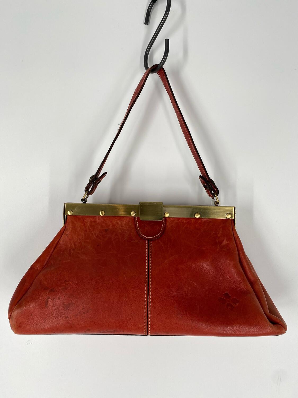 Patricia Nash Red Leather Shoulder Bag