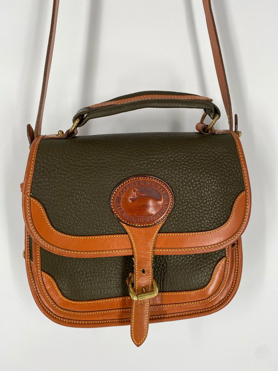 Dooney & Bourke Leather Crossbody Handle Bag