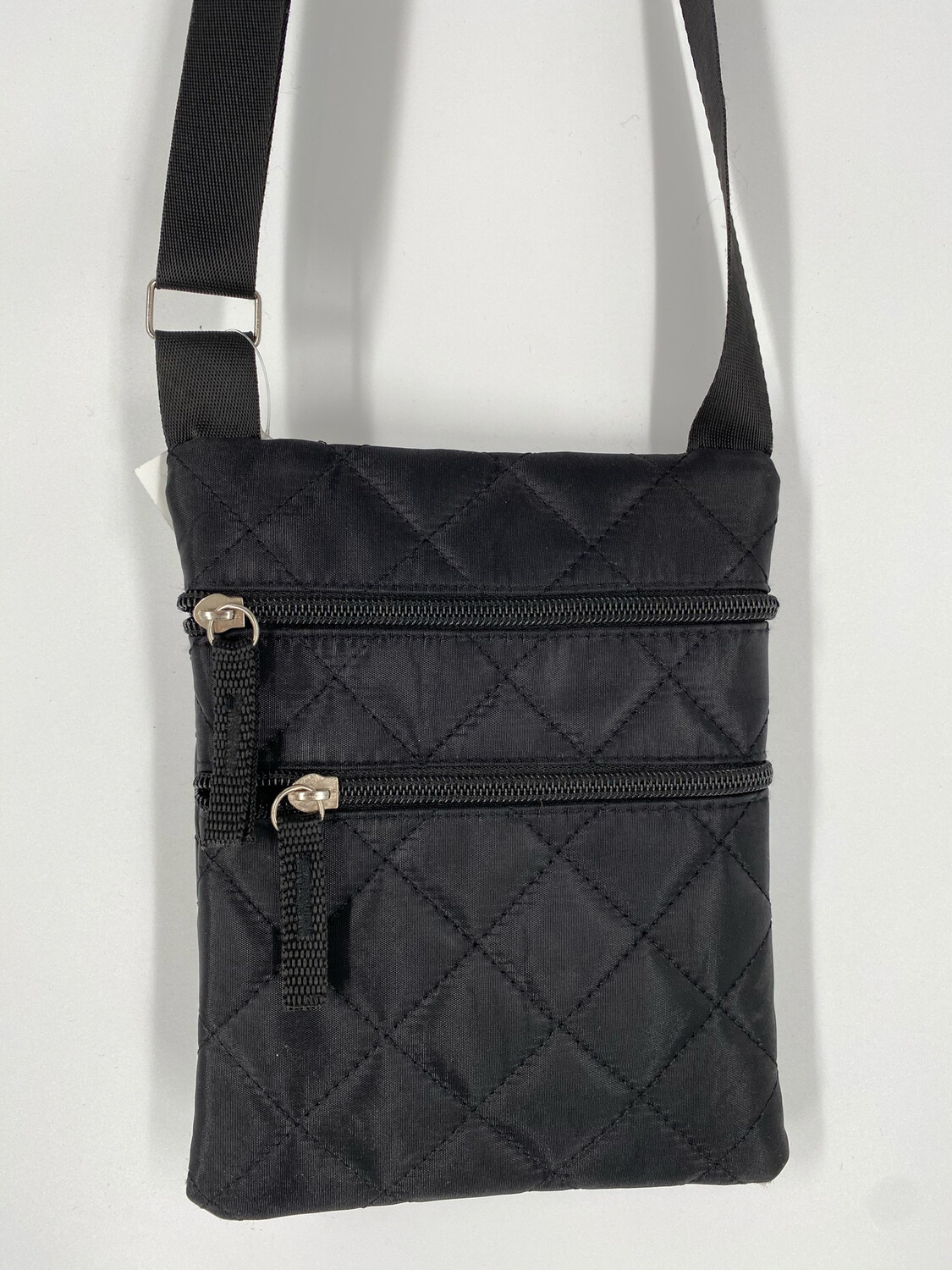 Black Crossbody Quilted Nylon Bag