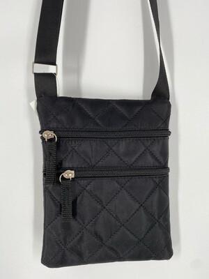 Black Crossbody Quilted Nylon Bag
