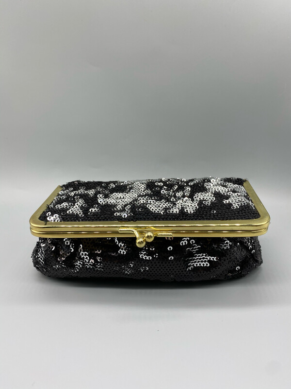Sequin Clutch With Mirror