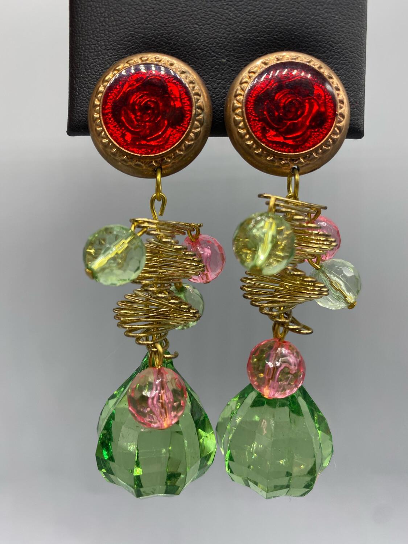 Multi-Color Drop Earrings