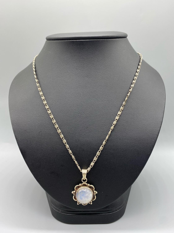 Moon Stone Pendant Necklace