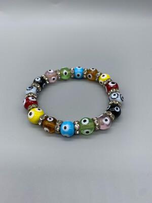 Multi-Color Evil Eye Bracelet