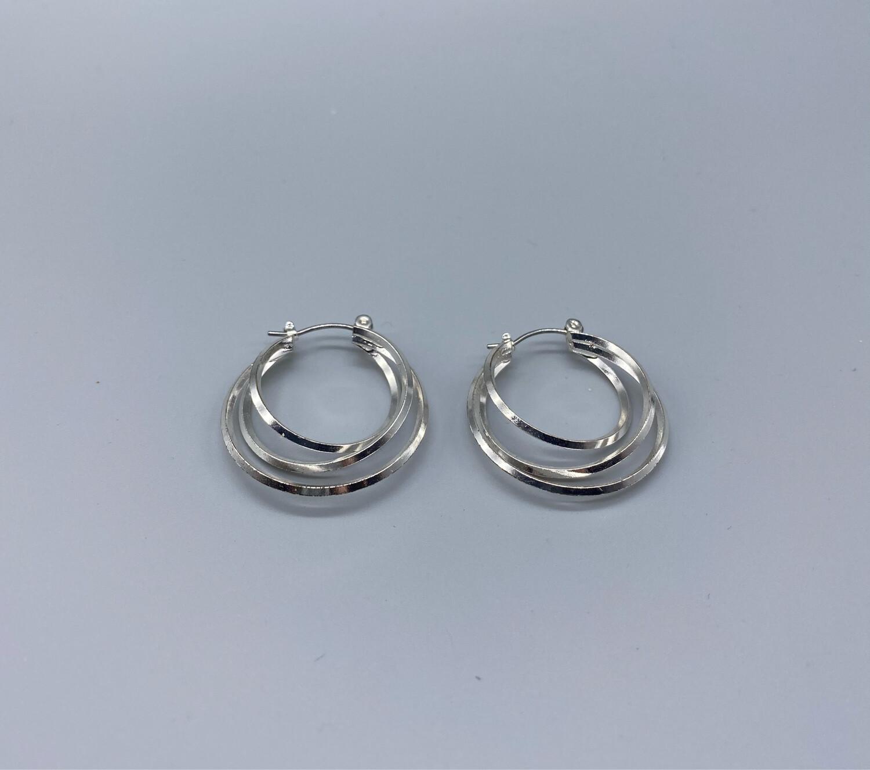 Silver Multi-Hoop Earrings