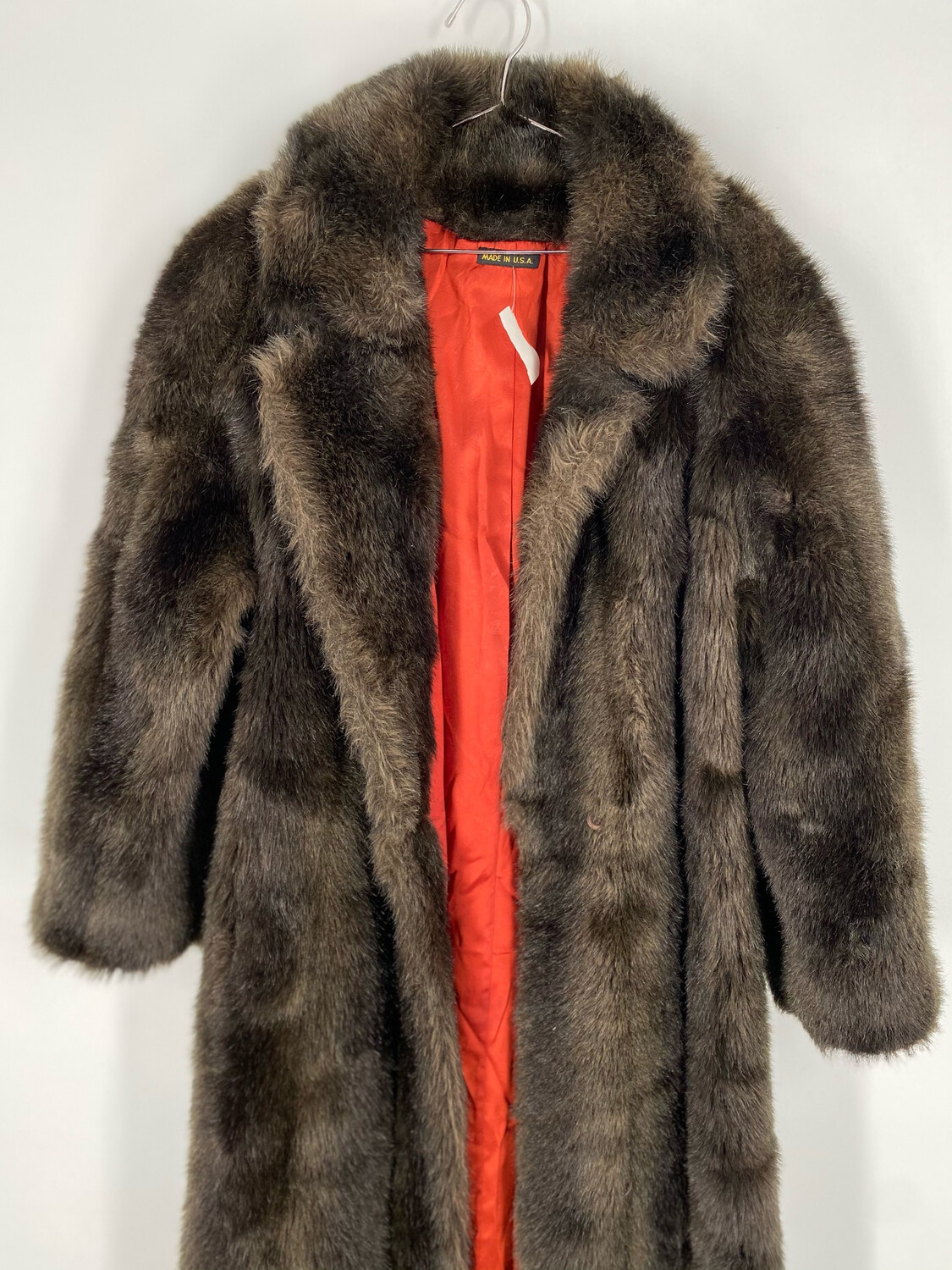 Olympia Long Faux Fur Coat Size S