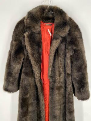 Olympia Long Faux Fur Coat Size S