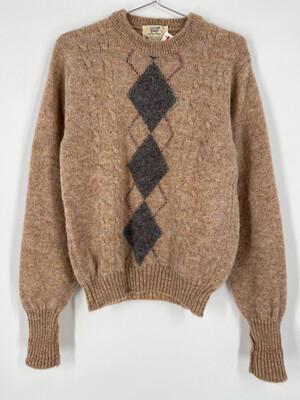 Lord Jeff Wool Argyle Print Sweater Size M