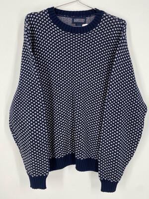 Land's End Printed Crewneck Sweater Size L