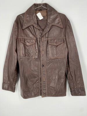 R. Sherman Leather Light Jacket Size L