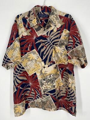 Andrew Fezza Silk Retro Hawaiian Button Up Size M