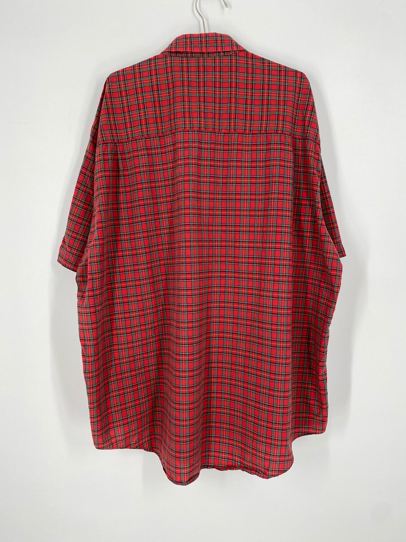 Bill Walker Red Plaid Short Sleeve Button Down Size XL