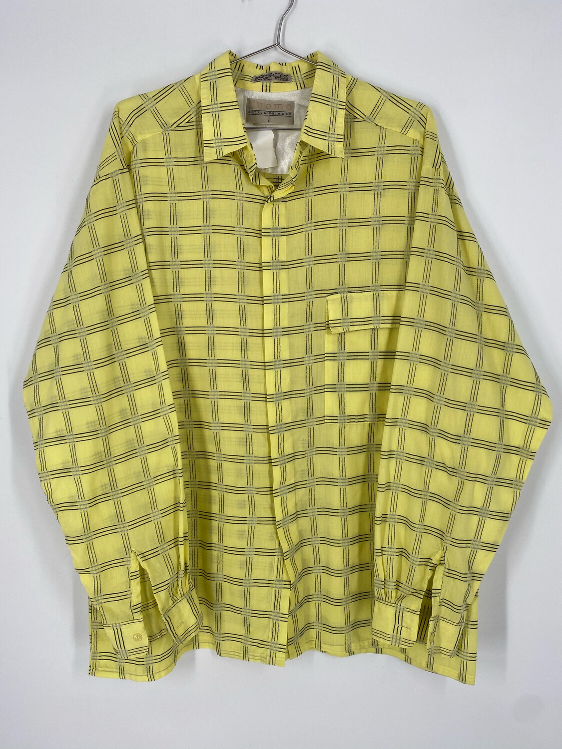 L'uomo Sergio Valente Abstract Long Sleeve Button Up Size L