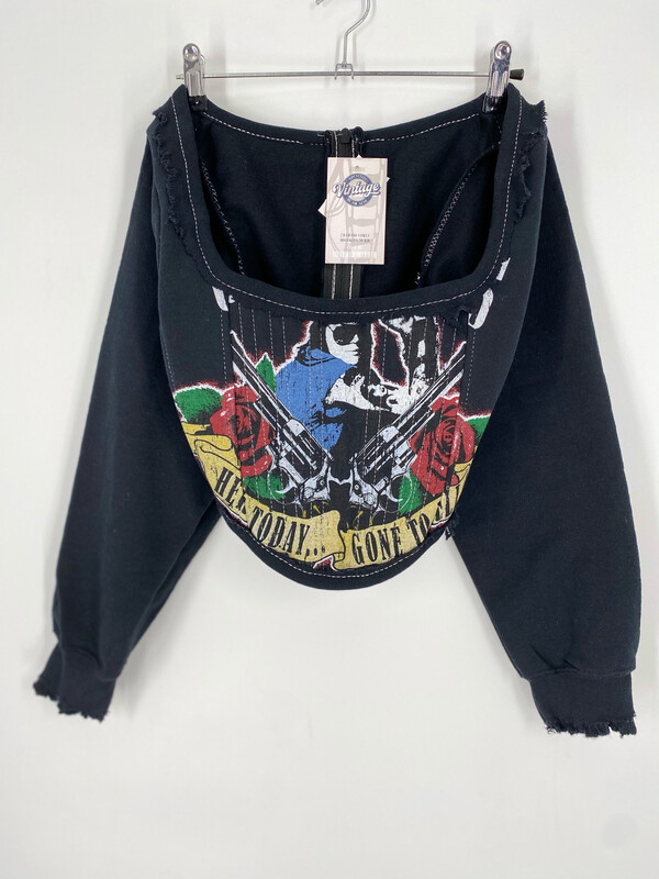 Reworked Guns & Roses Corset Size S