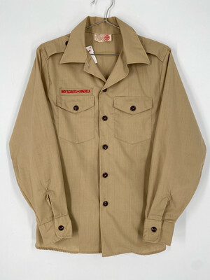 Official Boy Scouts Of America Long Sleeve Button Up Shirt Size S
