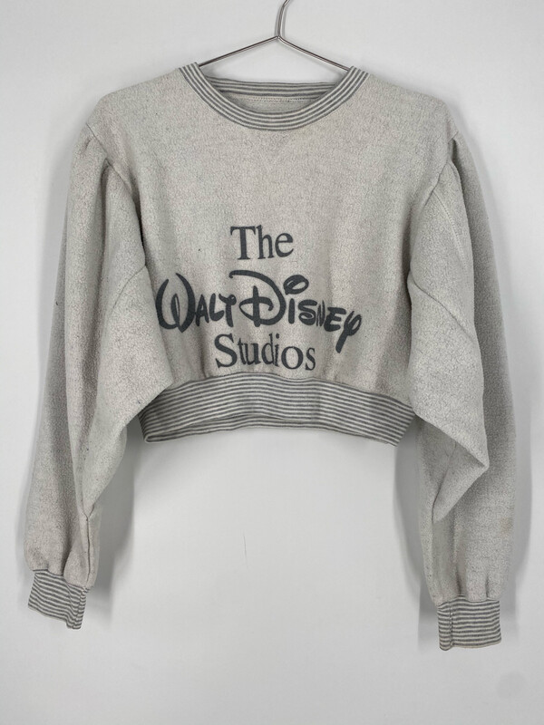 Reworked Cropped Disney Puff Sleeve Sweatshirt Size S