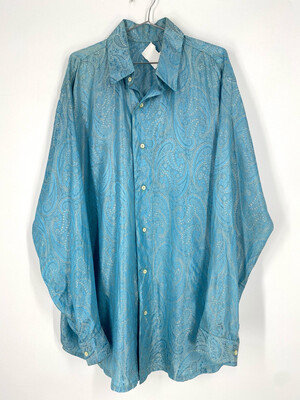 Vintage 70's Style Button Up Shirt Size L