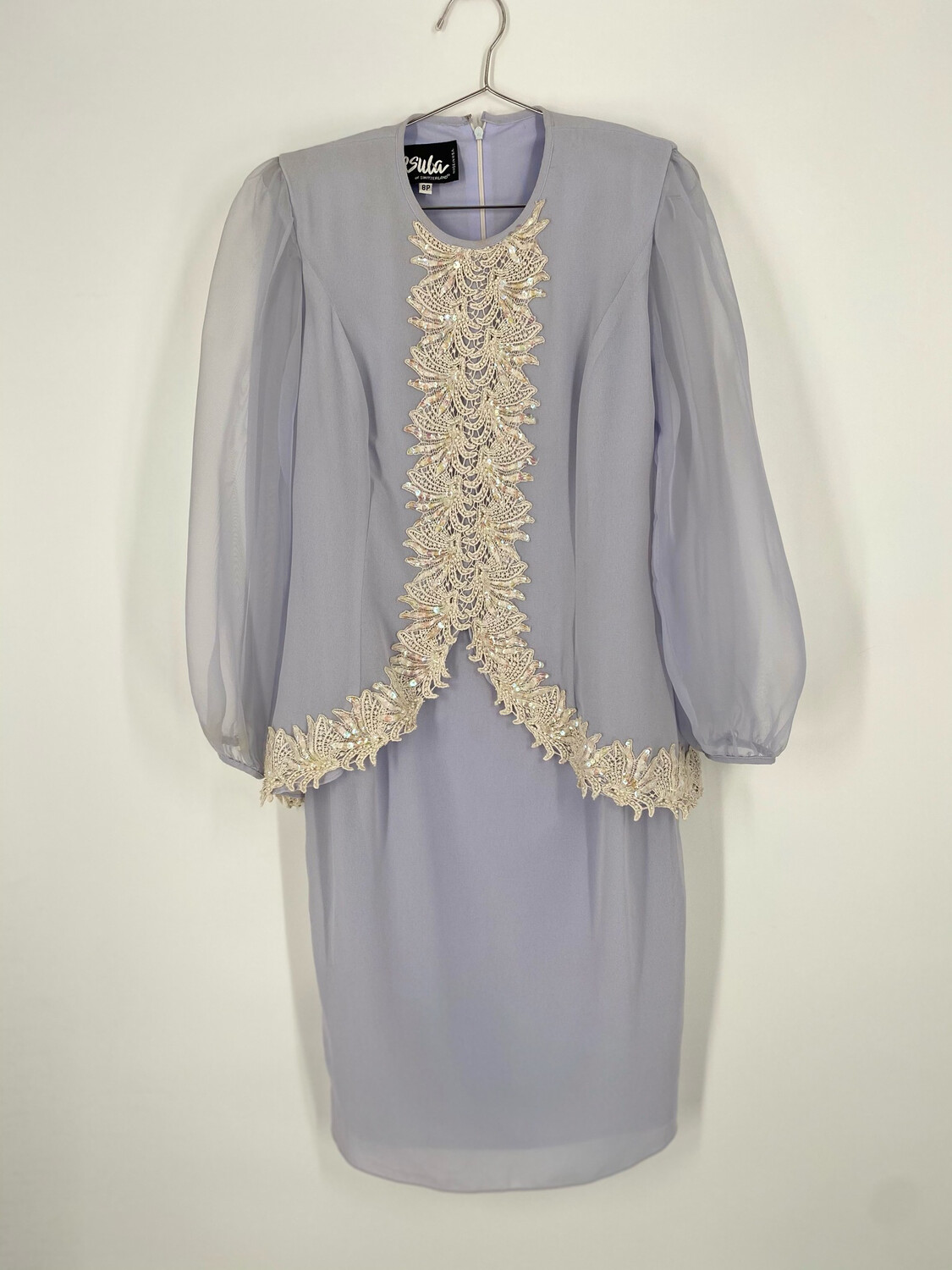 Ursula Of Switzerland Long Sleeve Dress With Embroidery Size M