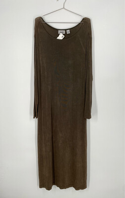 Chico's Travelers Long Sleeve Sheath Dress Size L