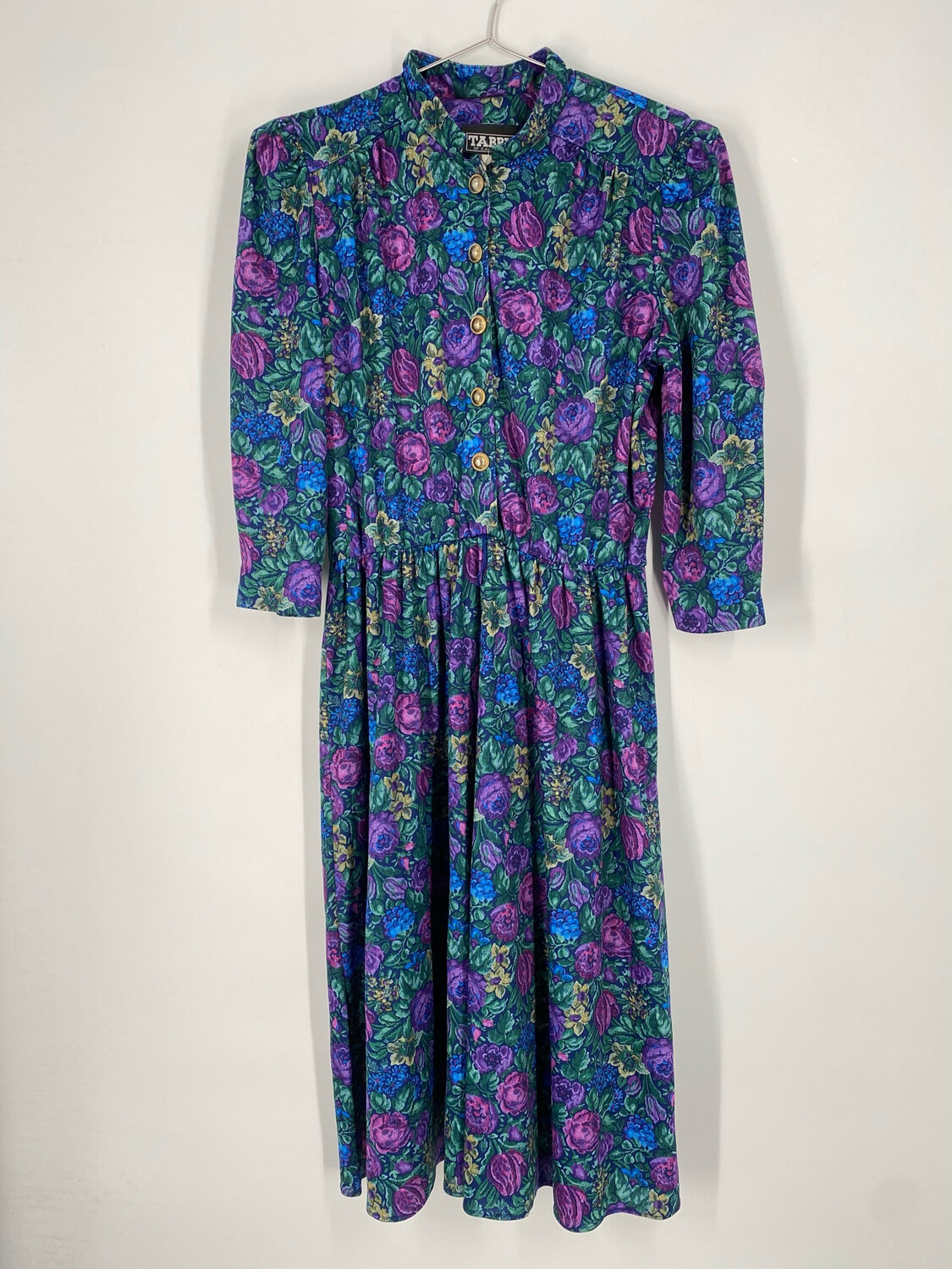 Tabby Of California Floral Long Sleeve Button Up Dress Size L