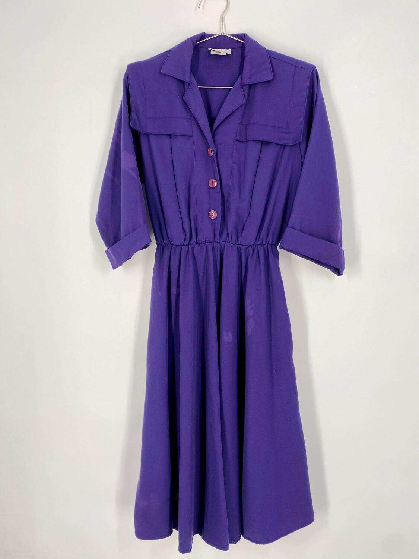 Stuart Alan Petites Button-Up Vintage Dress Size M