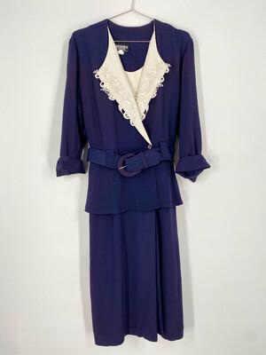 Studio I Petite Long Sleeve Vintage Dress Size M