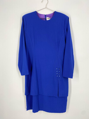 Jessica Howard 80's Style Dress Size L