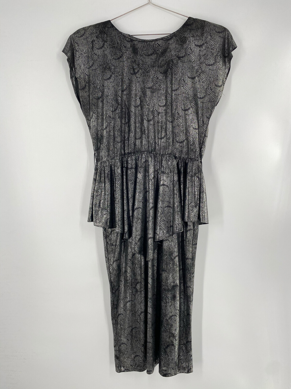Stash Metallic 80's Style Dress Size L