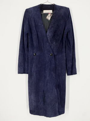 Agostino Vintage Suede Dress Size M
