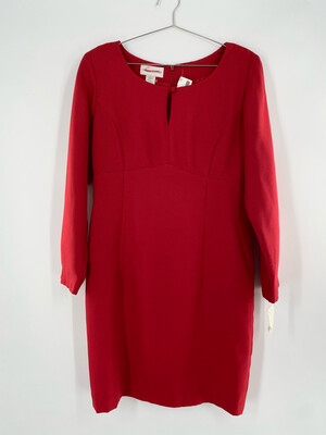 Casual Corner 90's Style Red  Dress Size L