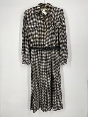 Leslie Fay 80's Style Vintage Dress Size L