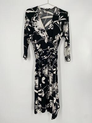 Vintage Floral Wrap Dress Size S