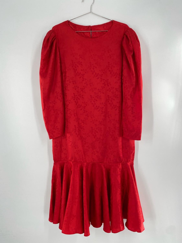 Vintage 80's Style Long Sleeve Dress Size L
