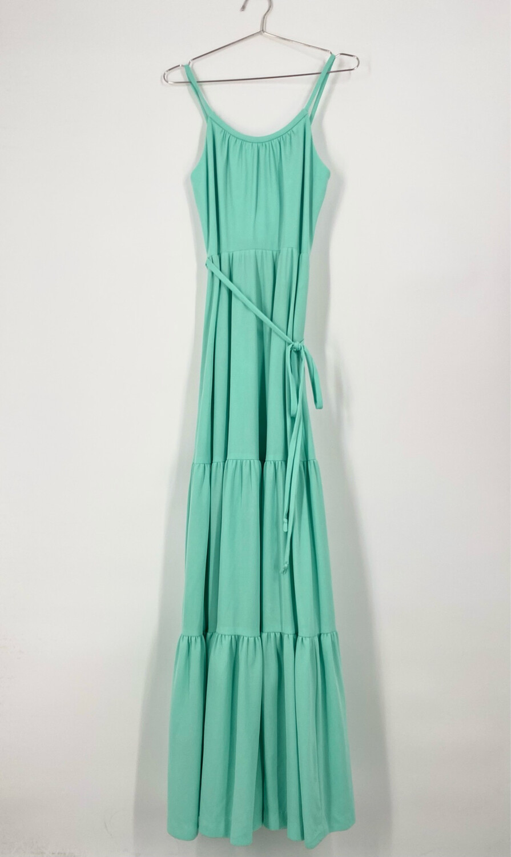 Vintage Turquoise Maxi Dress Size M