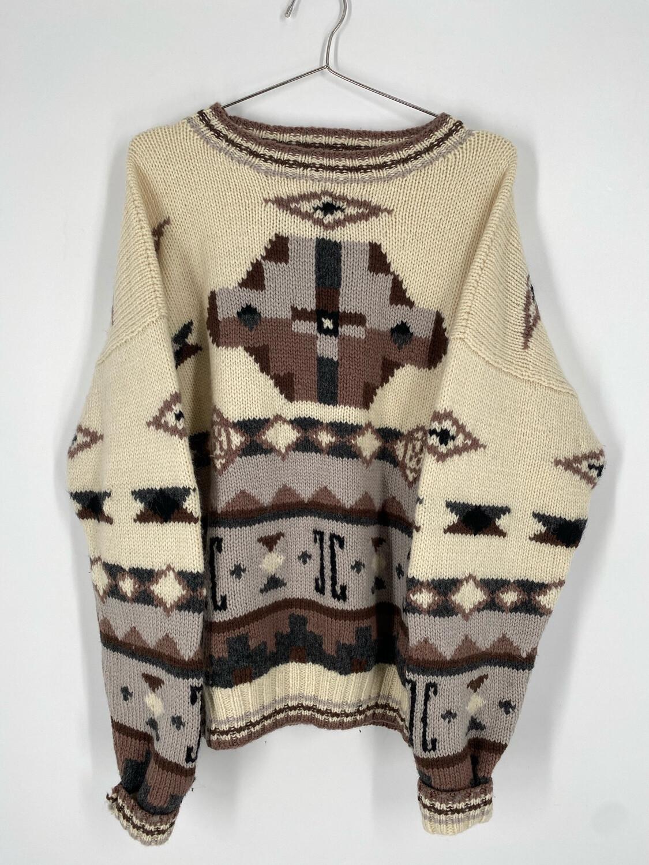Vintage Wool L.L Bean Printed Sweater Size M