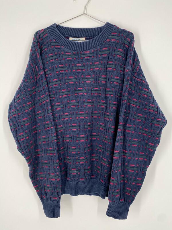 Hampton Bay Trading Company Printed Sweater Size L