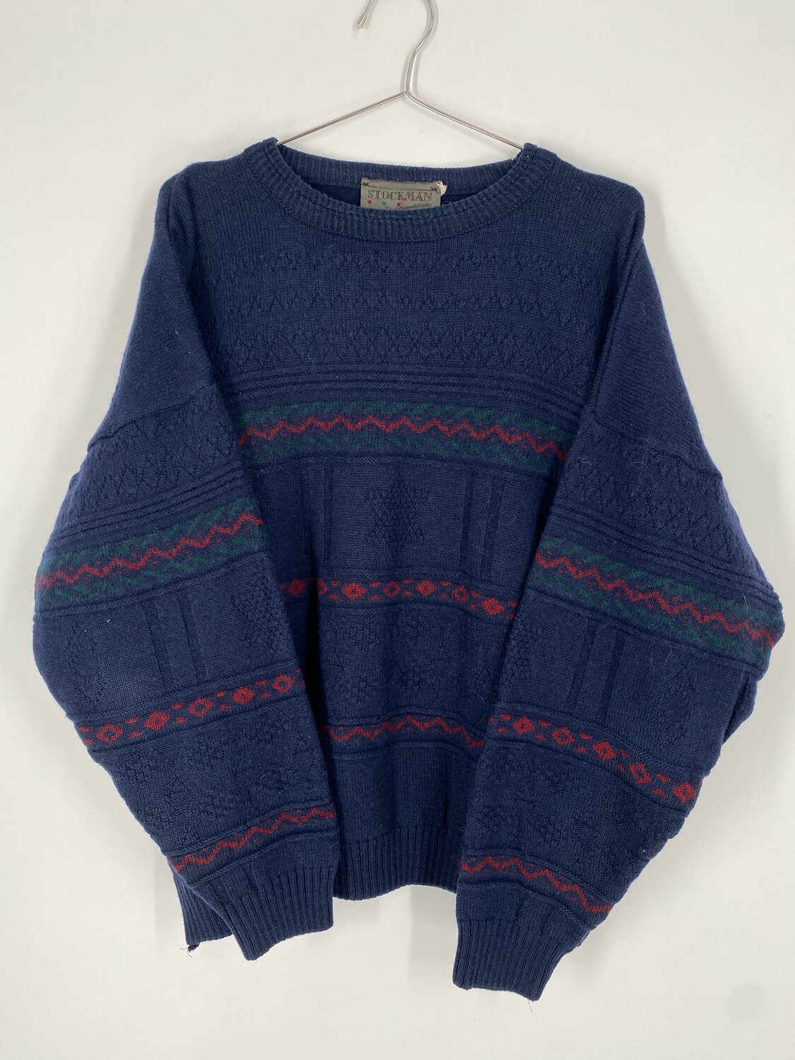 Stockman Ireland Printed Crewneck Sweater Size M