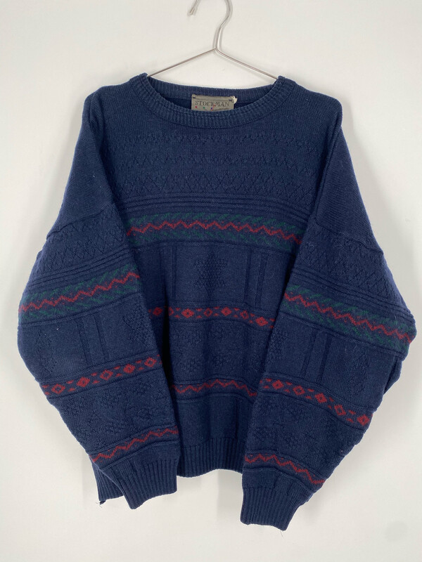 Stockman Ireland Printed Crewneck Sweater Size M