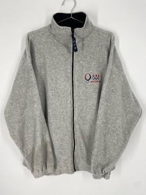 USA Beijing 08 Zip Up Fleece Sweatshirt Size L