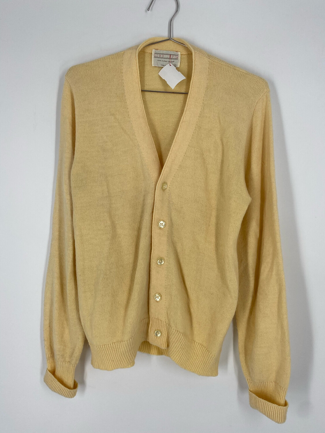 Lord Jeff Vintage Yellow Cardigan Size S